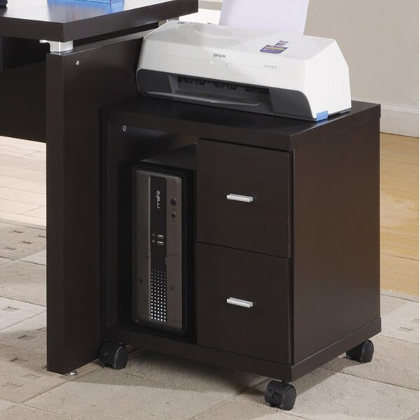 2-Drawer Mobile Filing Cabinet by Monarch Specialties Inc.2-Drawer Mobile Filing Cabinet by Monarch Specialties Inc.