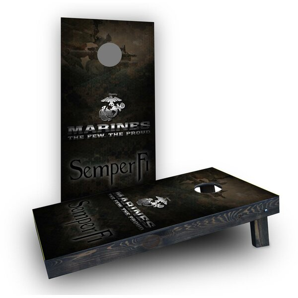 USMC Semper Fi Cornhole Boards (Set of 2) by Custom Cornhole Boards