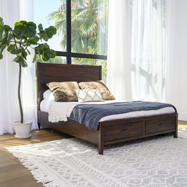 Sartell Distressed Storage Platform Bed By Breakwater Bay