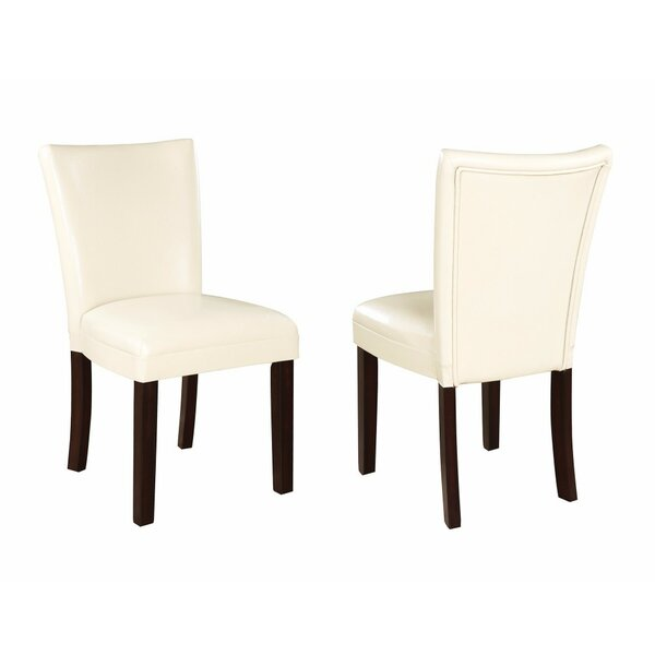 Wetter Chic and Stylish Genuine Leather Upholstered Dining Chair (Set of 2) by Red Barrel Studio