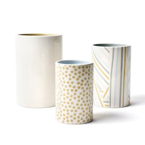 Nouveau Round Cylinder 3 Piece Utensil Crock Set by Coton Colors