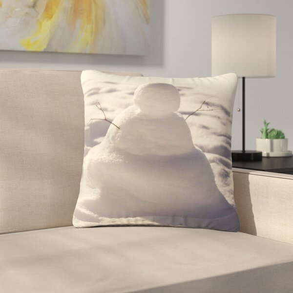 Angie Turner Snowman Nature Outdoor Throw Pillow by East Urban Home