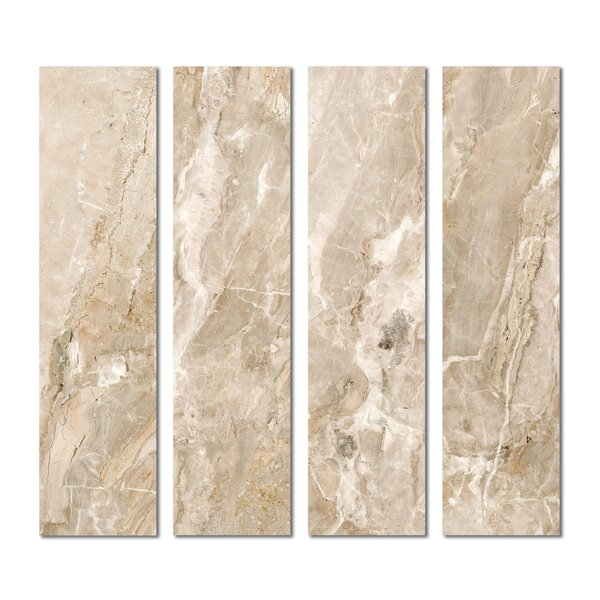 3 x 12 Beveled Glass Subway Tile in Beige by Upscale Designs by EMA