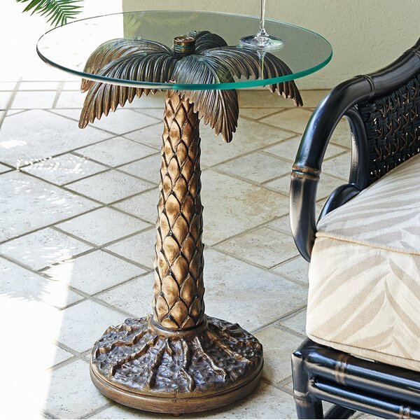 Alfresco Living Glass Side Table