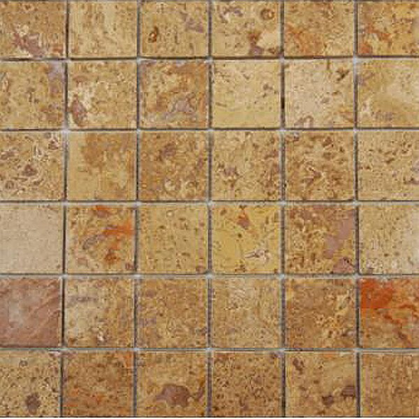 Noce 2 x 2 Travertine Mosaic Tile in Brown by Epoch Architectural Surfaces