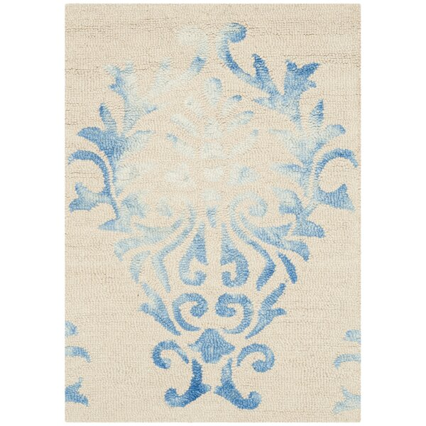 Jawhar Beige/Blue Area Rug by Bungalow Rose