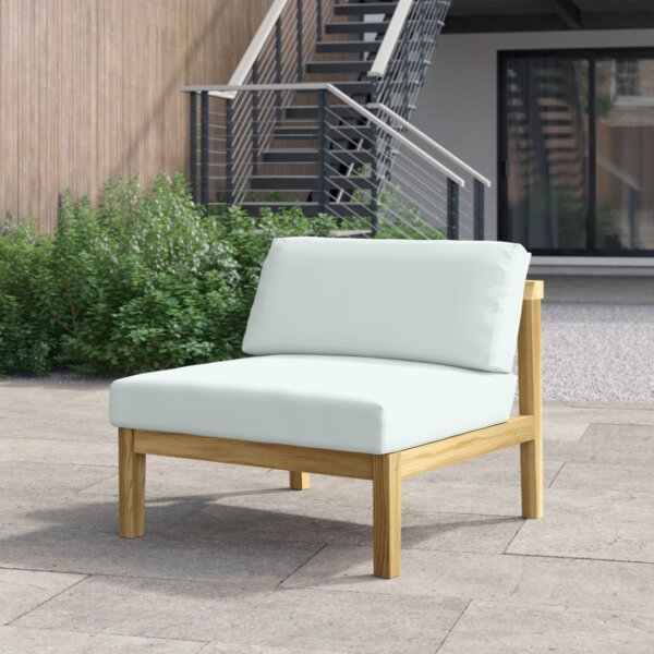 Annalese Outdoor Teak Patio Chair with Cushions by Foundstone