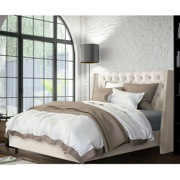 Hattie Upholstered Standard Bed by Skyline Furniture