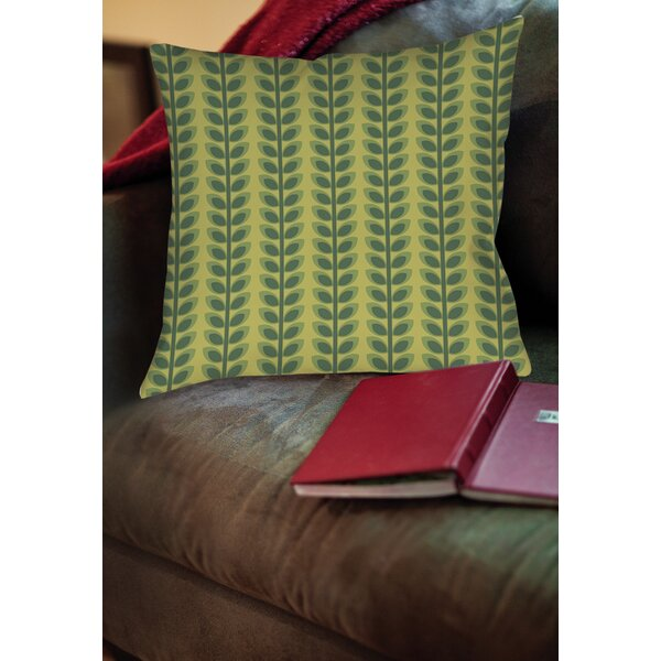 Tropical Breeze Patterns 39 Printed Throw Pillow by Manual Woodworkers & Weavers