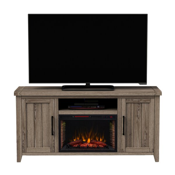 66 TV Stand with Fireplace by Woodhaven Hill