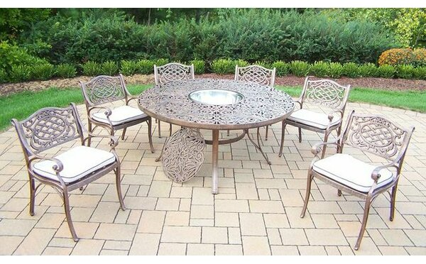 Mcgrady 7 Piece Dining Set with Cushions