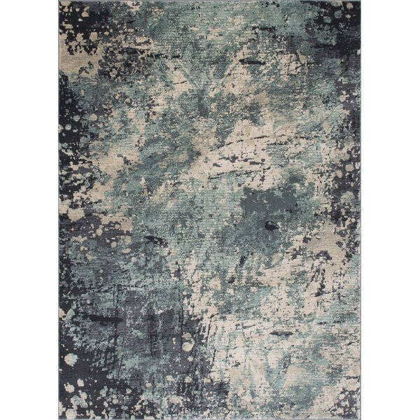 Faunia Abstract Pistachio Area Rug by 17 Stories