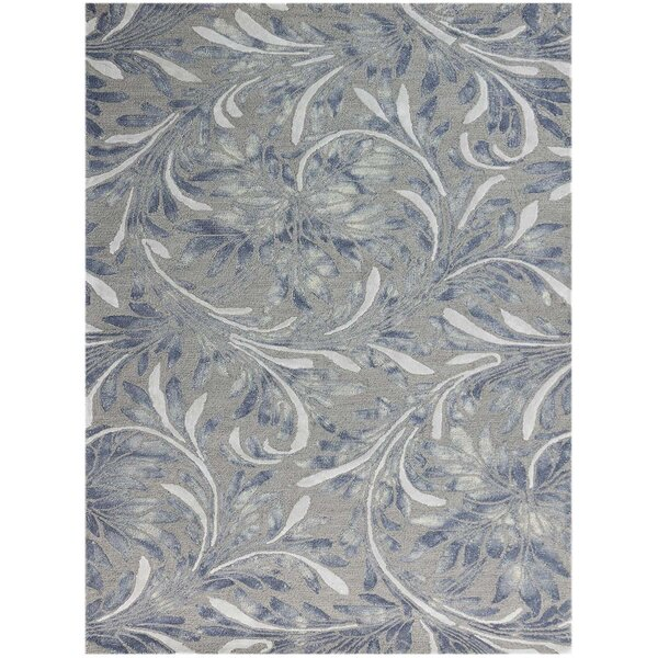 Pavilion Wool Hand-Tufted Gray Area Rug by Charlton Home