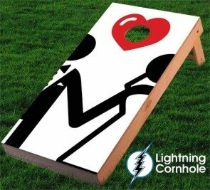 Bride and Groom Cornhole Board by Lightning Cornhole