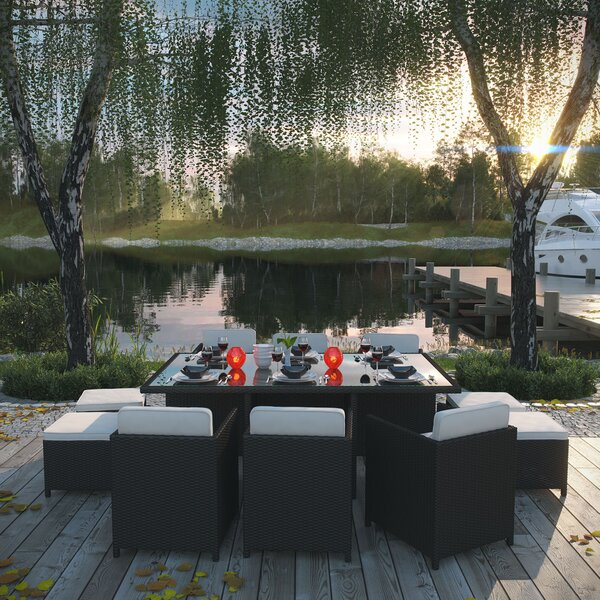 Doubleback 11 Piece Outdoor Patio Dining Set with Cushions by Modway