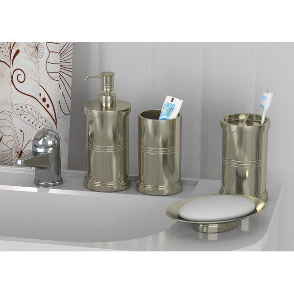 Grisborne 4 Piece Bathroom Accessory Set by Longshore Tides
