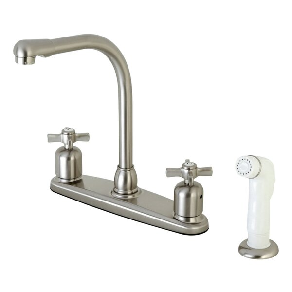 Millennium Double Handle Kitchen Faucet with Side Spray by Kingston Brass Kingston Brass