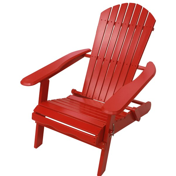 Antonioni Solid Wood Folding Adirondack Chair by August Grove August Grove