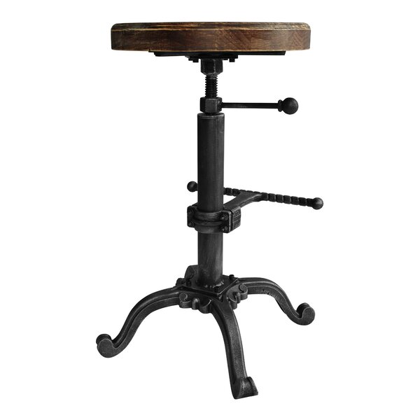 Hoggard Adjustable Height Swivel Bar Stool by Williston Forge