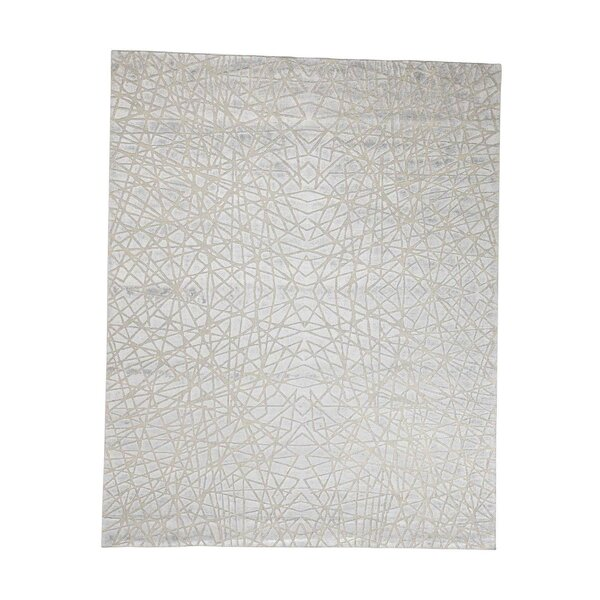 One-of-a-Kind Woodmansee Oidized Tone on Tone Oriental Hand-Knotted Silk Area Rug by Orren Ellis