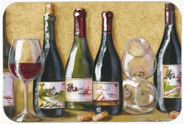 Wine Du Vin by Malenda Trick Bath Rug