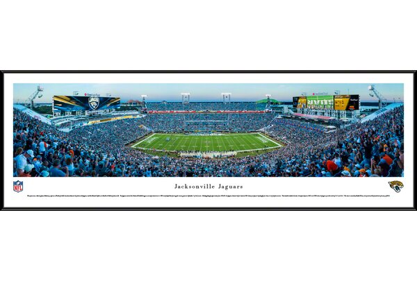 NFL Jacksonville Jaguars - 50 Yard Line by James Blakeway Framed Photographic Print by Blakeway Worldwide Panoramas, Inc