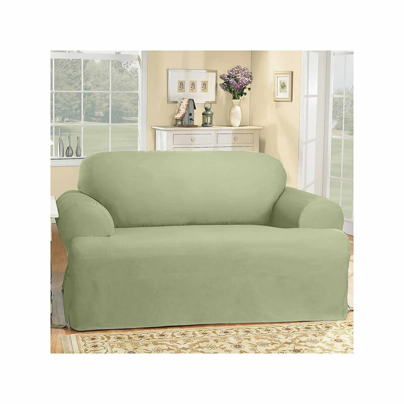 Sure Fit Cotton Duck T Cushion Sofa Slipcover Reviews