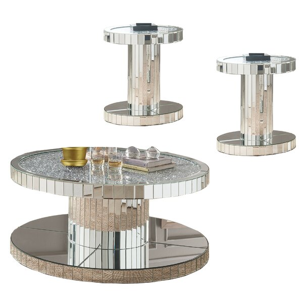 Vannoy 3 Piece Coffee Table Set By Rosdorf Park