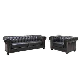 Stagbriar 2 Piece Leather Living Room Set by Charlton Home®