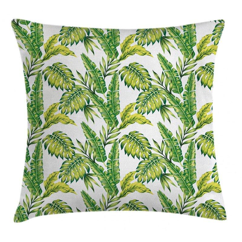 East Urban Home Bamboo Palm Plants Jungleindoor Outdoor 26 Throw Pillow Cover Wayfair