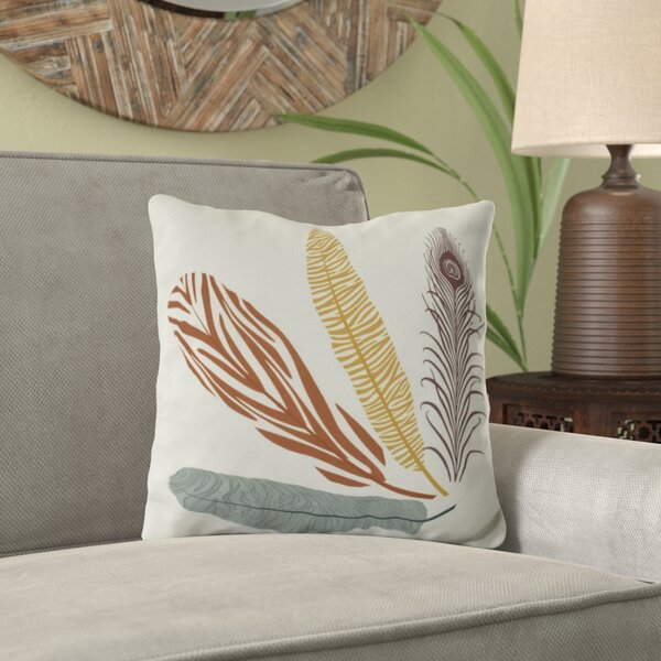 Lassiter Feather Study Outdoor Throw Pillow by Bungalow Rose