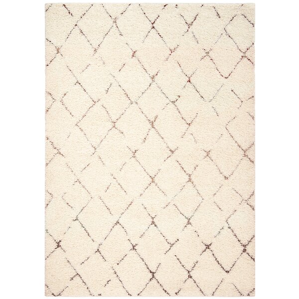 Copenhagen Shag Cream Area Rug by Brayden Studio