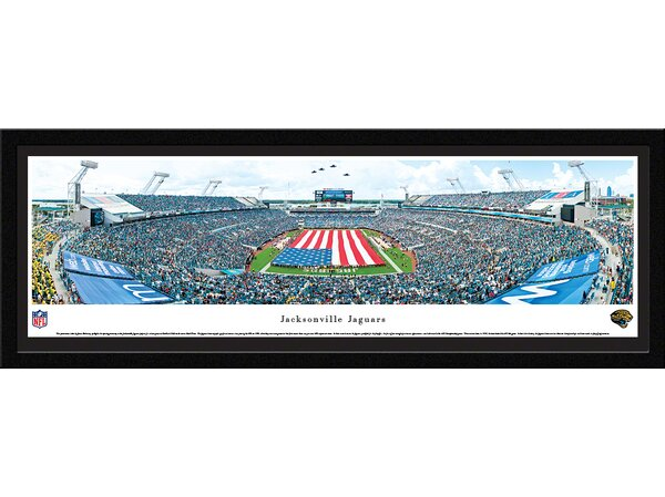 NFL Jacksonville Jaguars - Opening Ceremony by James Blakeway Framed Photographic Print by Blakeway Worldwide Panoramas, Inc