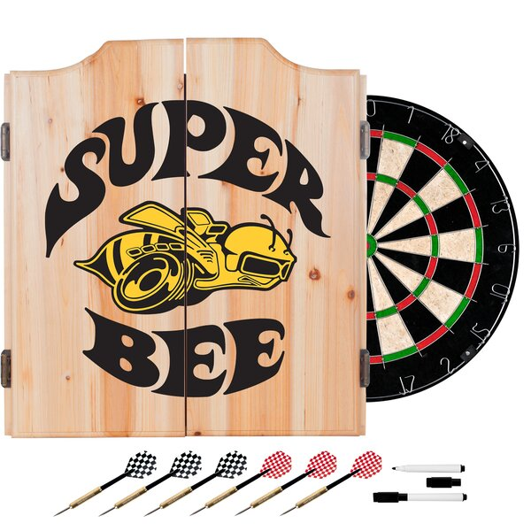 Dodge Super Bee Dartboard and Cabinet Set by Trademark Global