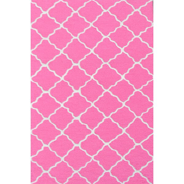 Handmade Pink and White Area Rug by Park Avenue Rugs