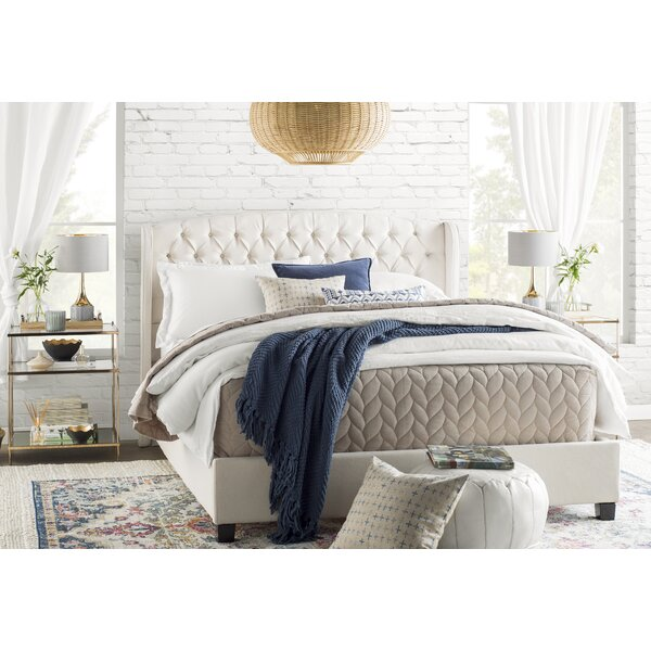 Hughes Queen Upholstered Platform Bed by Willa Arlo Interiors
