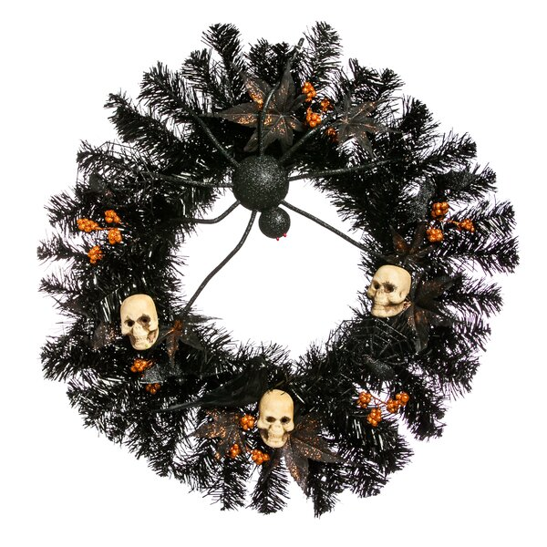 24 Halloween Skull Wreath by The Holiday Aisle