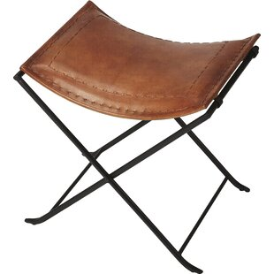 Melton Leather Accent  Stool