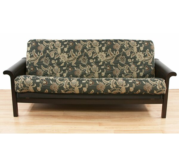 Ashante Floral Box Cushion Futon Slipcover by Easy Fit
