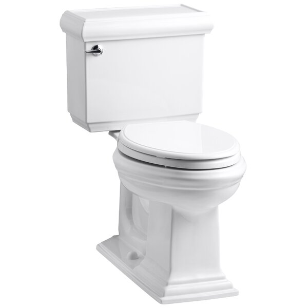 Memoirs Classic Comfort Height Two Piece Elongated 1.6 GPF Toilet with Aquapiston Flush Technology and Left-Hand Trip Lever by Kohler