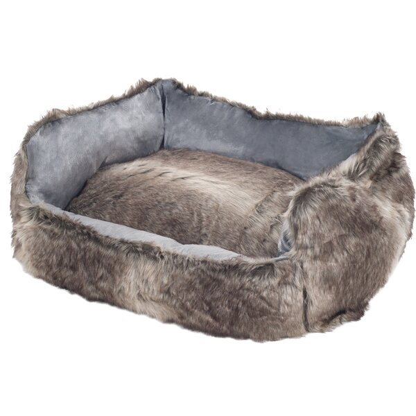Clarence Faux Fur Dog Bolster with Removable Cover by Tucker Murphy Pet