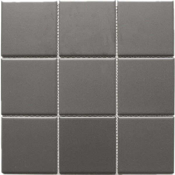 4 x 4 Porcelain Mosaic Tile in Brown by Multile