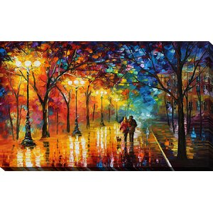 Night Happines by Leonid Afremov Painting Print on Wrapped Canvas by Picture Perfect International