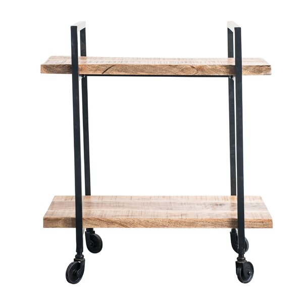 Noella Wood/Metal 2-Tier Bar Cart by Union Rustic
