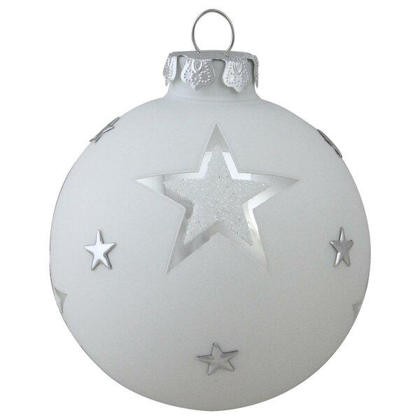 Winter S Beauty Star Glass Ball Christmas Ball Ornament By The Holiday Aisle.