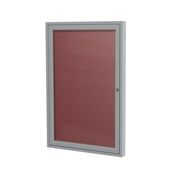 Ghent 1 Door Enclosed Vinyl Letter Board with Satin Aluminum Frame by Ghent