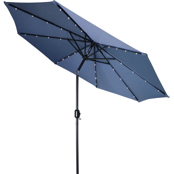 Woll 9' Lighted Market Umbrella by Mercury Row