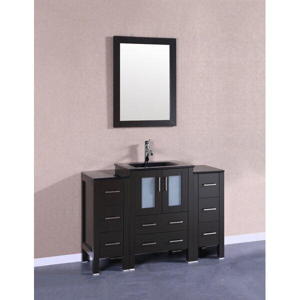 Templeton 48 Single Bathroom Vanity Set with Mirror by Bosconi