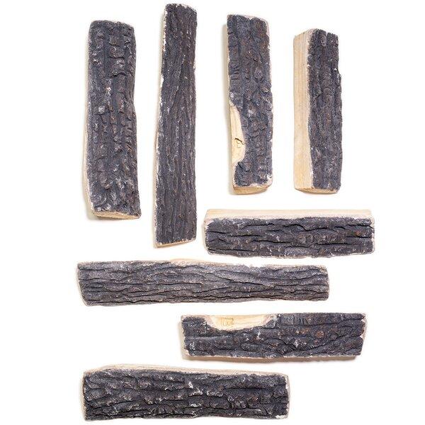 10 Piece Wood Natural Propane Gas Log Set By Barton