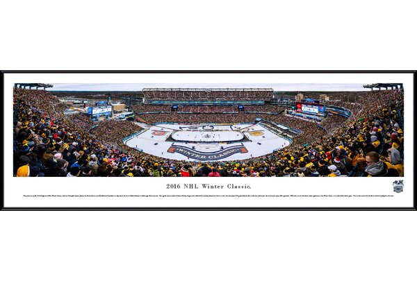 NHL Winter Classic 2016 by Christopher Gjevre Framed Photographic Print by Blakeway Worldwide Panoramas, Inc